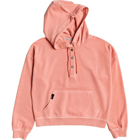 Roxy Girls Who Slide Pullover Hoodie Women terra cotta